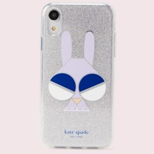 Kate Spade glitter bunny iphone xr case